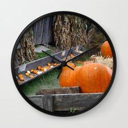 Pumpkin Patch Wall Clock