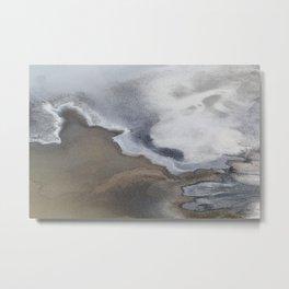 Death Valley Salt Flats Metal Print