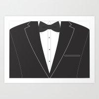 suit Art Prints featuring Suit  by Sally Elizabeth