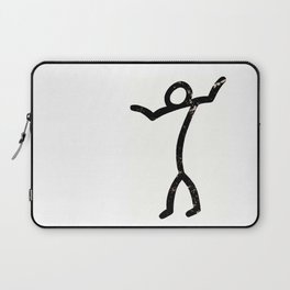 """Stick-man """"I Dunno."""" by Area 39 Art Laptop Sleeve"""