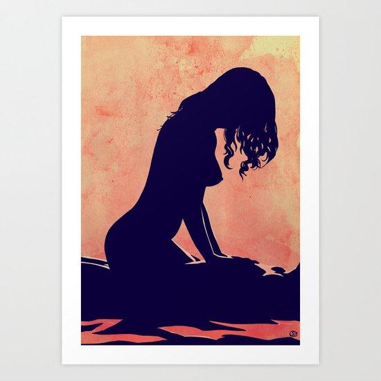 Lovers nr 1 Art Print