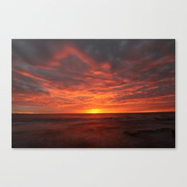 Morning Red  Canvas Print