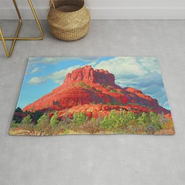 Big Bell Rock Sedona by Amanda Martinson Rug