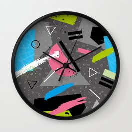 Fashion Patterns Ski Sunday Wall Clock