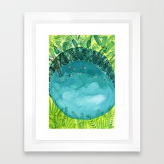 Pacific waterhole Framed Art Print