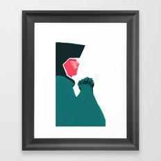 Untitled digital drawing Framed Art Print