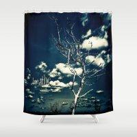 breathe Shower Curtains featuring BREATHE by Steffen Remter