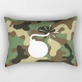 CAMO & WHITE BOMB DIGGITY Rectangular Pillow