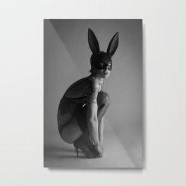 a stoic bunny Metal Print