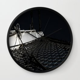 Wherever The Wind Blows Us In The Night Wall Clock