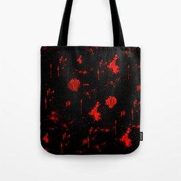 Red Paint / Blood splatter on black Tote Bag