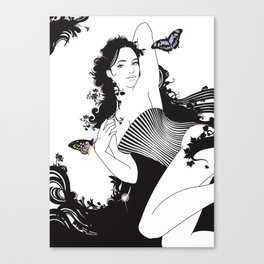 Black Nimf Canvas Print