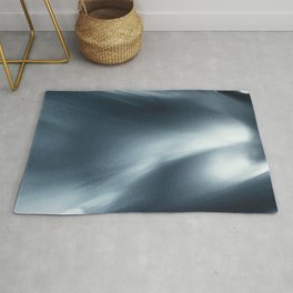 Monochromatic Ink Wave Square Rug