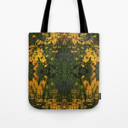 YELLOW RUDBECKIA DAISIES WATER REFLECTIONS Tote Bag