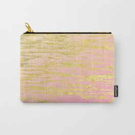 Pink Gold Ripples Carry-All Pouch