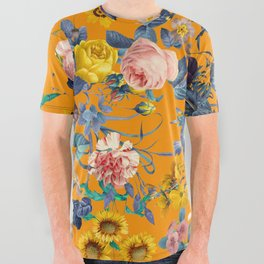 Summer Botanical Garden IX All Over Graphic Tee