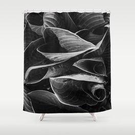 Flower | Flowers | Black Hostas | Goth Plant | Nature Art Shower Curtain