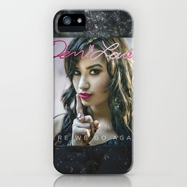 D Lovato Here We Go Again iPhone Case