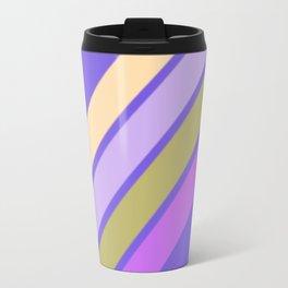 Purple Yellow and Green Stripes Travel Mug