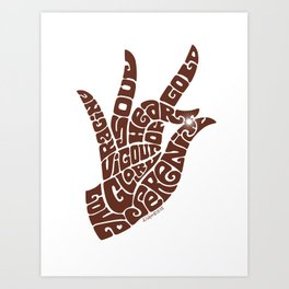 heart in hand in milk chocolate Art Print