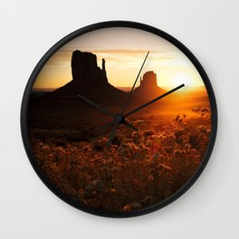 Sunrise in Monument Valley Wall Clock
