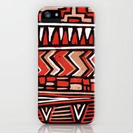 Aztec lino print iPhone Case