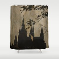 prague Shower Curtains featuring Mysterious Prague by Maria Heyens