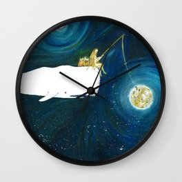 Fishing stars Wall Clock