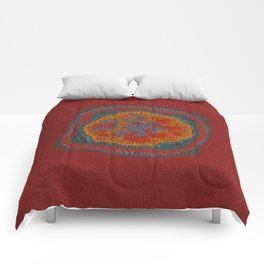 Growing - Lamium - plant cell embroidery Comforters