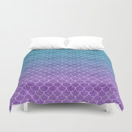 Mermaid Scales in Cotton Candy Duvet Cover