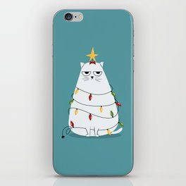 Grumpy Christmas Cat iPhone Skin