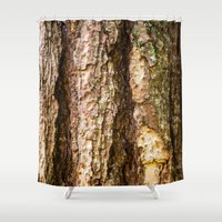 wood Shower Curtains featuring Wood by Michelle McConnell