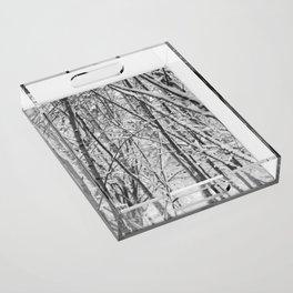 Woodland snow Acrylic Tray