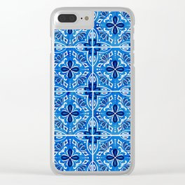 Sevilla - Spanish Tile Clear iPhone Case