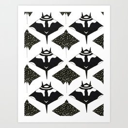 mantas and spotted eagle rays Art Print
