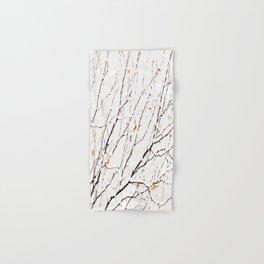 Snowy birch twigs and leaves #society6 #decor #buyart Hand & Bath Towel