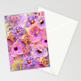 Tropical hibiscus patterns Flower Floral Flowers Stationery Cards