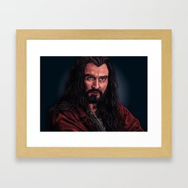 King Under The Mountain Framed Art Print
