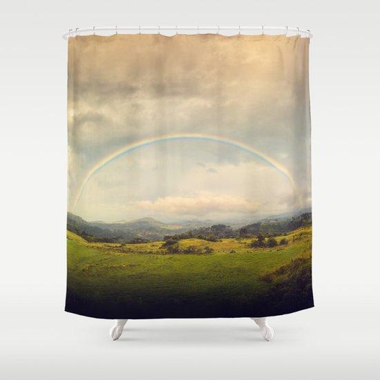 Rainbow Sublime Shower Curtain