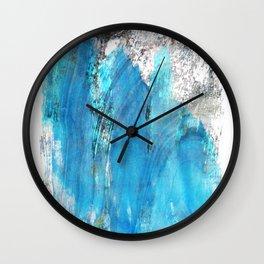 Modern Abstract Art - Blue Essence - Sharon Cummings Wall Clock