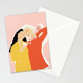 Best Friends and Wine Stationery Cards