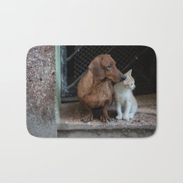 Lovely pair of dog and cat Bath Mat