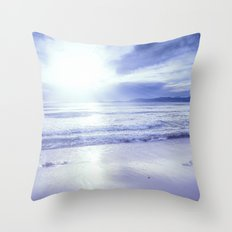 Serenity Beach Periwinkle Blue Throw Pillow