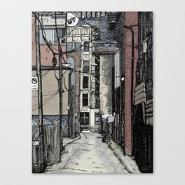 Queen St. West Alley Canvas Print