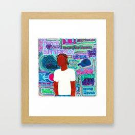 Kendrick Psychedelia Framed Art Print