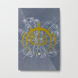 Mistborn (gold) Metal Print