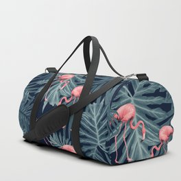 Summer Flamingo Jungle Night Vibes #1 #tropical #decor #art #society6 Duffle Bag