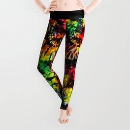 Vivid Psychedelic Hippy Tie Dye Leggings
