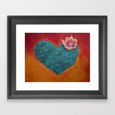 Cactus Heart Framed Art Print
