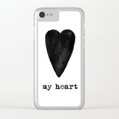 My Black Heart Clear iPhone Case